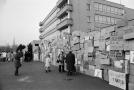 Protestní zeď v Olomouci 1989.