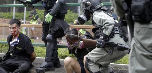 Prodemokratické demonstrace v Hongkongu.