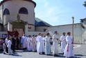Pouť s Palladiem ve Staré Boleslavi z baziliky sv. Václava do poutního kostela Nanebevzetí Panny Marie.