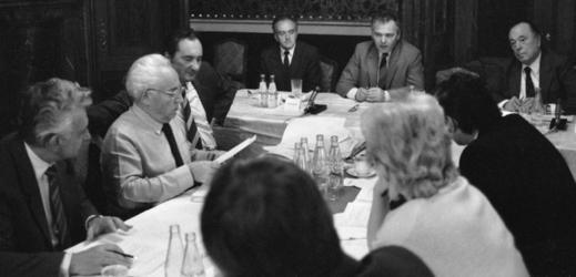 Shromáždění představitelů politických stran a organizací Národní fronty ČSSR.