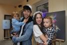 Michaela Tomešová s rodinou.