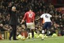 José Mourinho v utkání mezi Manchesterem a Tottenhamem.