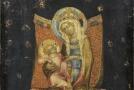 Obraz Trůnící Panna Marie s dítětem.