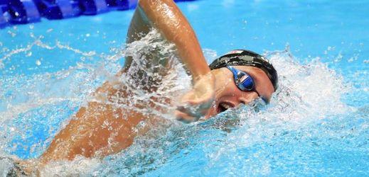 Český plavec Jan Micka na mistrovství Evropy v krátkém bazénu.
