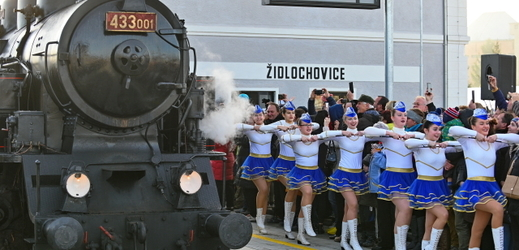 Mažoretky vystoupily 8. prosince 2019 během slavnostního otevření vlakového terminálu v Židlochovicích u Brna.