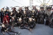 V Rakousku řádí vysocí čerti s kozími rohy