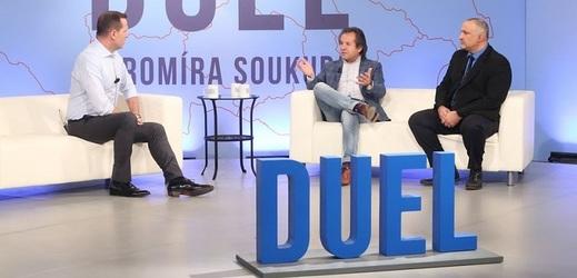 Zleva Jaromír Soukup, Andor Šándor a David Bohbot.