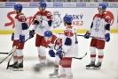 Zklamaný český výběr hokejistů do 20 let.