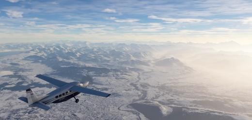 Microsoft Flight Simulator nepřestává udivovat, tvůrci ukázali sníh