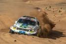Posádka Tomáš Ouředníček a David Křípal z týmu Ultimate Dakar Racing s vozem značky Ford.