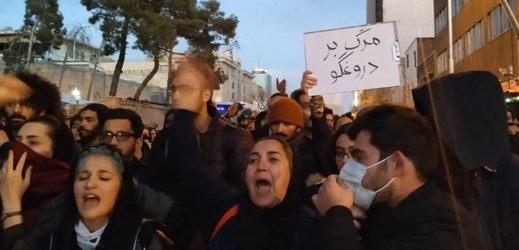 Protesty v Teheránu.