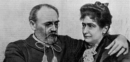Émile Zola s manželkou.