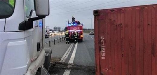 Nehoda na pražském okruhu.