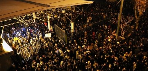 Protivládní protesty v Íránu.