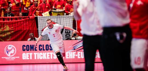 Jakub Hrstka slaví gól proti Severním Makedoncům.