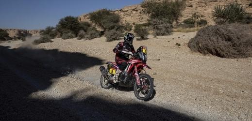 Průběžný vedoucí motocyklové části Ricky Brabec.