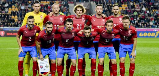 Český fotbalový národní tým proti Severnímu Irsku.
