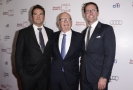 Rupert Murdoch a jeho synové - Lachlan (vlevo) a James (vpravo).