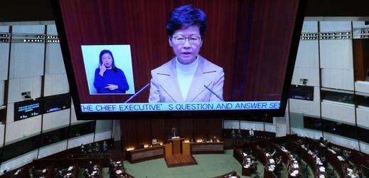 Správkyně Hongkongu Carrie Lamová.