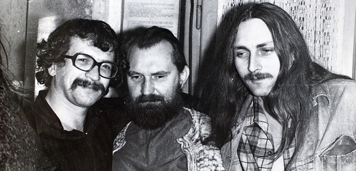 Ivan Magor Jirous, Egon Bondy a Pavel Zajíček.