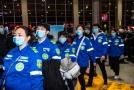 Zdravotní tým v čínském Kuej-jangu.