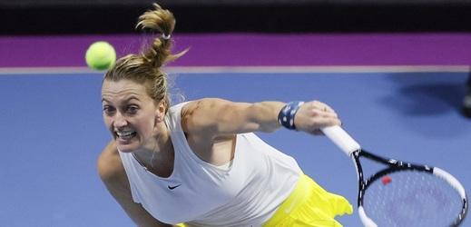 Kvitová se na úvod turnaje v Petrohradu pořádně zapotila.