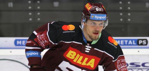 Hokejový útočník Jiří Smejkal z pražské Sparty.