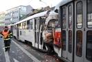 Srážka tramvají v Brně.