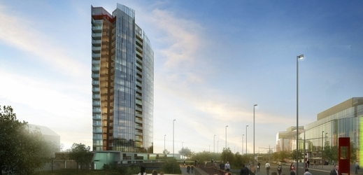 Vizualizace projektu Šantovka Tower.