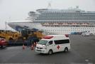 Výletní loď Diamond Princess v přístavišti.