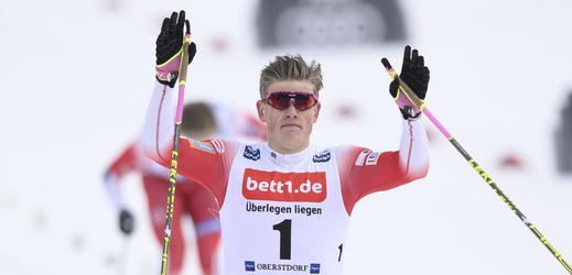 Norský běžec na lyžích Johannes Hösflot Klaebo.