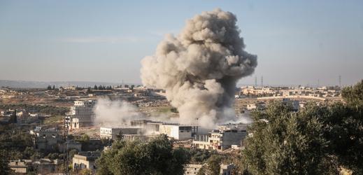 Výbuch v syrském městě v provincii Idlib.