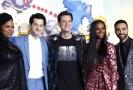 Herci z filmu Ježek Sonic: Natasha Rothwellová, Ben Schwartz, Jim Carrey, Tika Sumpterová a Lee Majdoub.