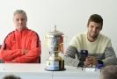 Tenista Jiří Veselý (vpravo) a jeho trenér Jaroslav Navrátil.