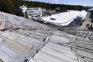 Na snímku je pohled z tribuny do biatlonového areálu v Novém městě.
