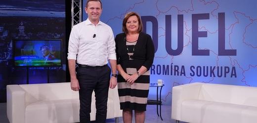Duel Jaromíra Soukupa s Alenou Schillerovou.