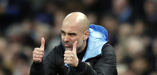 Trenér Pep Guardiola.