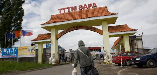 Vietnamská tržnice Sapa v Praze Libuši.