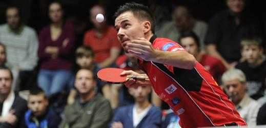 Český stolní tenista Tomáš Tregler.