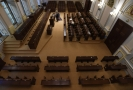 Jednací místnost Poslanecké sněmovny v Thunovském paláci.
