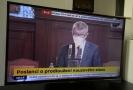 Andrej Babiš v Poslanecké sněmovně při úvodním slově.