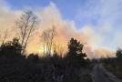 Požár u Černobylu.