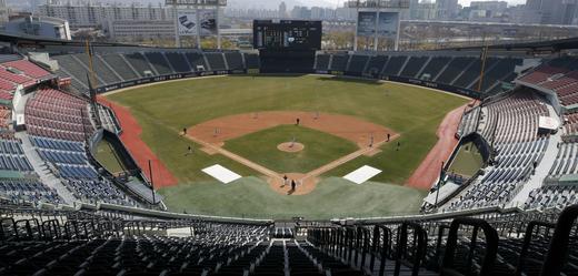 Baseballové hřiště.