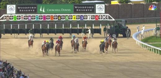 Fotografie z virtuálního Kentucky Derby.