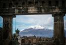 Pompeje a sopka Vesuv.