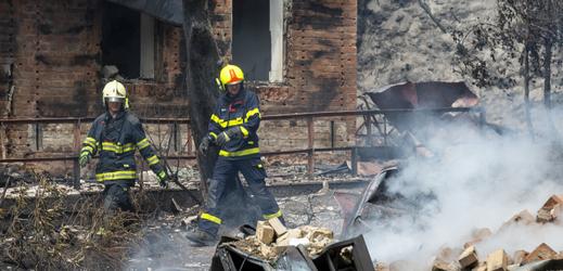 Zásah hasičů v lokalitě Na Tokáni.