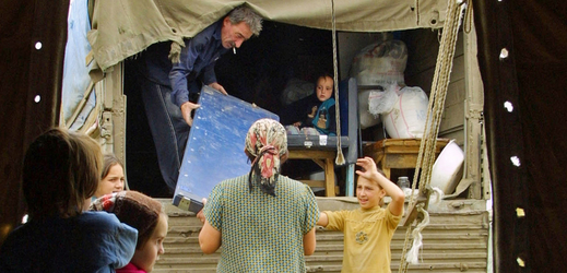 Uprchlický tábor.