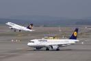 Letadla aerolinek Lufthansa.