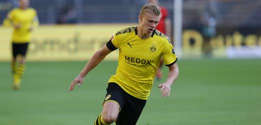 Fotbalista Haaland.