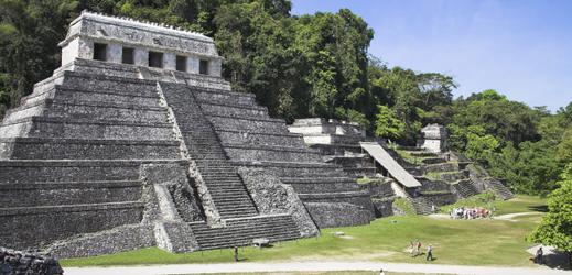 Chrám nápisů v Palenque.